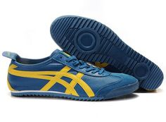 Onitsuka Tiger Mexico 66 Deluxe Nippon Made Blue Yellow Shoes