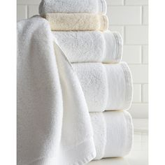 SFERRA 6-Piece Ashemore Towel Set (1 230 ZAR) ❤ liked on Polyvore featuring home, bed & bath, bath, bath towels, ivory, sferra, patterned bath towels, 6 piece towel set, monogram towel set and monogrammed bath towels