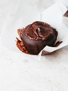brownie cakes with chocolate coconut frosting