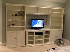 """Love this """"built-in"""" look from IKEA"""