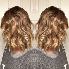 Honey blonde balyage