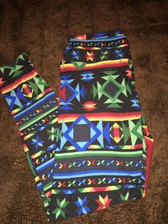 988a16659f4f24 NWT LuLaRoe Leggings Aztec Print Assorted Colors On Black Background OS  #fashion #clothing #