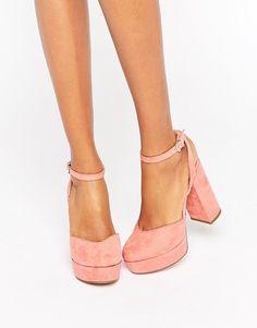 ALDO Shery Ankle Strap Platform Heeled Shoes Asos Shoes b55b7cc72c7