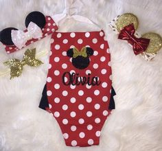 Disney Minnie Mouse Romper Onesie Baby