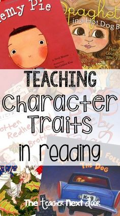 Teaching about character traits in reading can be challenging but fun. This resource links to lots of great ideas to help me teach character traits in reading to improve reading comprehension. Reading Lessons, Reading Activities, Reading Skills, Teaching Reading, Teaching Ideas, Guided Reading, Learning, Close Reading, Classroom Activities