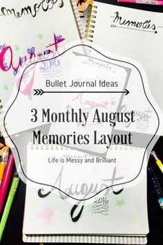 bullet journal monthly memories layout