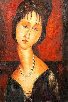 Retrato de Jeanne Hébuterne (1917), Modigliani Amedeo
