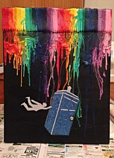 dr who crayon art with themickymau5