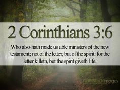 Scriptures KJV | Corinthians 3:6 KJV Christian Bible On Line