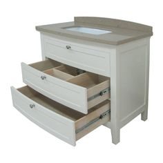 Make Photo Gallery Shop allen roth Norbury White Undermount Single Sink Bathroom Vanity with Engineered Stone Top