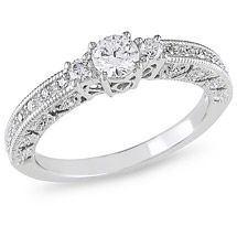 Walmart: Miabella 1/2 Carat T.W. Diamond Engagement Ring in 10kt White Gold IN LOVE. <3