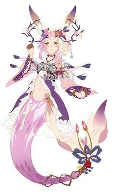 slightly smiling V Anime Mermaid, Mermaid Art, M Anime, Anime Art Girl, Fantasy Creatures, Mythical Creatures, Mermaid Stories, Character Art, Character Design