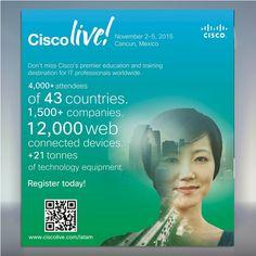 Cisco Live! no se lo pierdan 2-5 de Noviembre en Cancún México