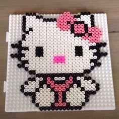 Hello Kitty hama beads by kjerstinw87