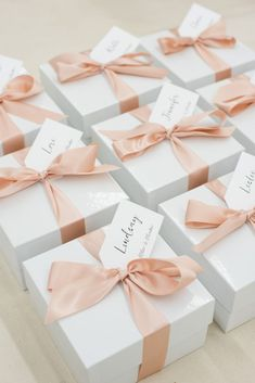 Best Corporate Gifts Ideas CORPORATE EVENT GIFTS// Pink and white thank you gift boxes custom designed for photographer retreat, curated by Marigold & Grey, Image: Lissa Ryan Wedding Gift Baskets, Wedding Gifts, Wedding Favor Boxes, Corporate Gifts, Corporate Events, Curated Gift Boxes, Company Gifts, Client Gifts, Welcome Gifts