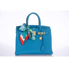 hermes birkin bag 30cm turquoise togo with gold hardware