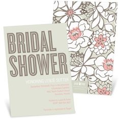 Bridal Shower Invitations -- Blissful Blooms #peartreegreetings #wedding #bridalshower
