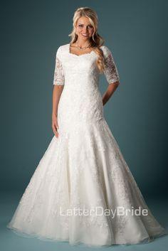 Modest Wedding Dress, Oriana | LatterDayBride & Prom