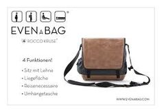 EVENaBAG ® is a unique, intelligent and versatile messenger bag! But it's more than just a bag, it's an everyday bag, offering different functions that make it adaptable to all different kinds of lifestyles! For all parents: It can also be used as a diaper bag. It does things other bags can't.
