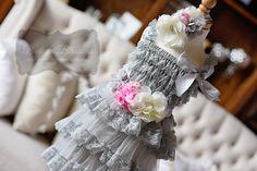 Classic Gray & Pink Lace Dress Gift Set