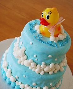 rubber ducky cakes baby shower