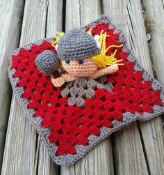 Items similar to Thor lovey/amigurumi/blanket/super hero/ crochet/doll/ fandom on Etsy Crochet Crafts, Yarn Crafts, Crochet Toys, Crochet Projects, Crochet Lovey, Crochet Blanket Patterns, Baby Blanket Crochet, Unique Crochet, Love Crochet