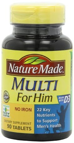 Nature Made Multi For Him Vitamin and Mineral 90 Tablets *** More info could be found at the image url.