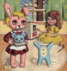 Sweet and Creepy illustration by Ana Bagayan