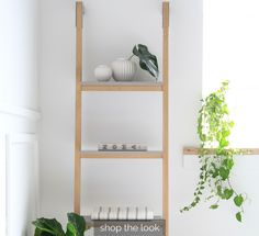An all time favourite of ours: the Silo leaning shelves. Available in light oak, white and latte grey.