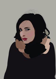 portait femme brune © Amélie Poirier poirieramelie.blogspot.fr