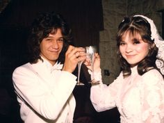"April 11, 1981 – Musician Eddie Van Halen marries actress Valerie Bertinelli of TV's ""One Day at a Time."""