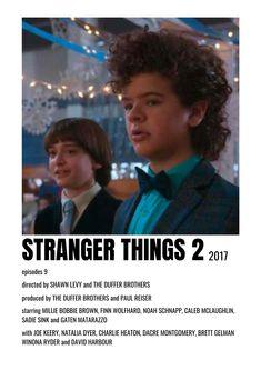 Movie Intro, Movie Tv, Minimal Movie Posters, Film Posters, Duffer Brothers, Joe Keery, Teen Tv, Stranger Things 2, Movie Prints