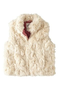 Mini Boden Faux Fur Gilet (Toddler Girls, Little Girls & Big Girls) available at #Nordstrom