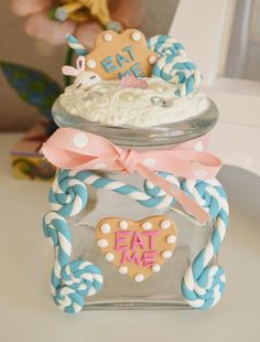 Alice in Wonderland inspired #Decoden Jar