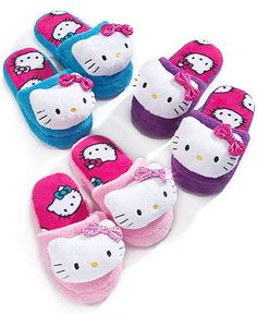 Hello Kitty Kids Slippers, Girls and Little Girls Slippers With Sequin Bow - - Macy's
