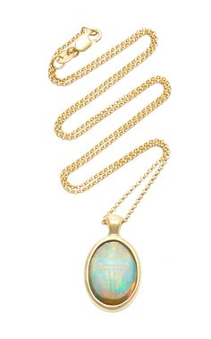 PAMELA LOVE ONE OF A KIND 18K GOLD AND OPAL SCARAB NECKLACE. #pamelalove