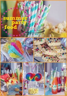 Summer Party Food - Simple food ideas for an affordable and adorable summer themed parties!