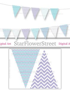 Turquoise Polkadot et chevron Welcome Home New Baby Bunting Bannière Guirlande