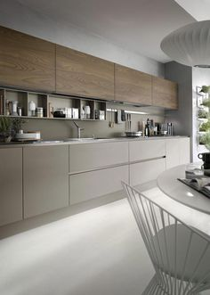 Modern I- and U-shaped kitchen - overview of existing advantages, restrictions ., Modern I- and U-shaped kitchen - overview of existing advantages, restrictions and solutions - new decor. Luxury Kitchen Design, Best Kitchen Designs, Luxury Kitchens, Interior Design Kitchen, Modern Interior Design, Cool Kitchens, Modern Decor, Bathroom Interior, Interior Colors
