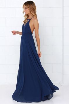 Mythical Kind of Love Navy Blue Maxi Dress at Lulus.com!