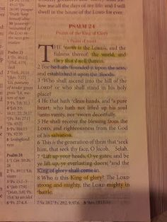 The Talbert Report: Psalm 24