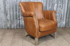 This elegant Art Deco inspired armchair comes from our wide range of leather seating. Upholstered in tan leather, which is a traditional colour for the Art Deco 1930s period, the armchair would suit a range of different interiors; it would be ideal for a kitchen, dining room, home office or for use in a bar. | eBay!