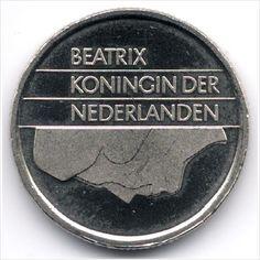 Netherlands 25 Cents 1989