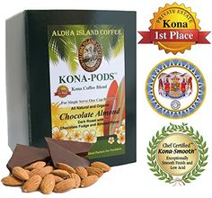 Senseo Pods of Chocolate Almond Flavored Kona Blend Coffee 18 Pods Reusable Pod Adapter is Available for Keurig Kcup Brewing Systems >>> Details can be found by clicking on the image.Note:It is affiliate link to Amazon. #california