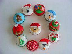 cupcake de natal pasta americana - Pesquisa Google
