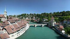 9.- Berna. El río Aare a su paso por Berna, capital de Suiza.