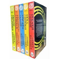 Maze Runner Series James Dashner 5 Books Set The Death Cure , Scorch Trials