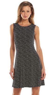 Apt. 9® Fit & Flare Crepe Dress - Women's