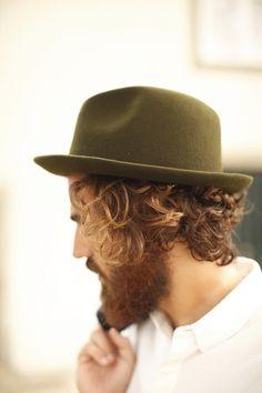 beautiful green hat