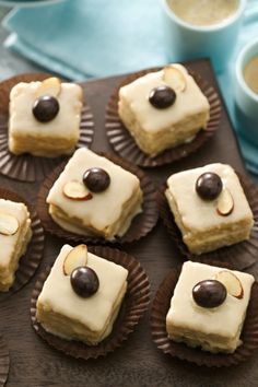 Serve up these pretty petits fours that come with a sweet espresso kick!